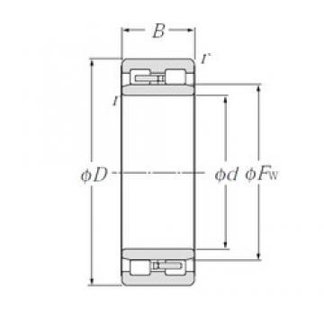 105 mm x 145 mm x 40 mm  NTN NNU4921 Multi-Row Cylindrical Roller Bearings
