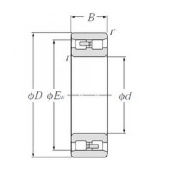 170 mm x 230 mm x 60 mm  NTN NN4934 Multi-Row Cylindrical Roller Bearings