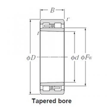 340 mm x 460 mm x 118 mm  NTN NNU4968K Multi-Row Cylindrical Roller Bearings