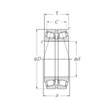 NTN 413196 Double Row Tapered Roller Bearings (Outside Direction)